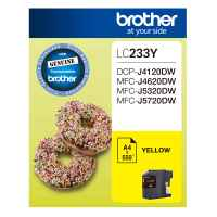 1 x Genuine Brother LC-233 Yellow Ink Cartridge LC-233Y