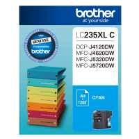 1 x Genuine Brother LC-235XL Cyan Ink Cartridge LC-235XLC