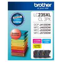 1 x Genuine Brother LC-235XL C/M/Y Ink Cartridge Colour Pack LC-235XLCL3PK