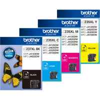4 Pack Genuine Brother LC-237XL LC-235XL Ink Cartridge Set (1BK,1C,1M,1Y)