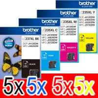 20 Pack Genuine Brother LC-237XL LC-235XL Ink Cartridge Set (5BK,5C,5M,5Y)