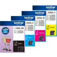 4 Pack Genuine Brother LC-239XL LC-235XL Ink Cartridge Set (1BK,1C,1M,1Y)