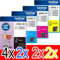 10 Pack Genuine Brother LC-239XL LC-235XL Ink Cartridge Set (4BK,2C,2M,2Y)