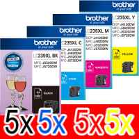 20 Pack Genuine Brother LC-239XL LC-235XL Ink Cartridge Set (5BK,5C,5M,5Y)