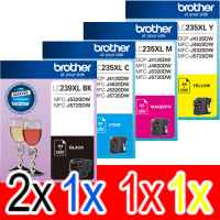 5 Pack Genuine Brother LC-239XL LC-235XL Ink Cartridge Set (2BK,1C,1M,1Y)