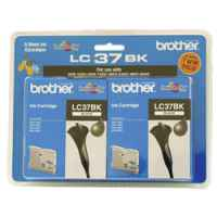 1 x Genuine Brother LC-37 Black Ink Cartridge Twin Pack LC-37BK2PK