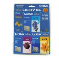 1 x Genuine Brother LC-37 C/M/Y Ink Cartridge Colour Pack LC-37CL3PK