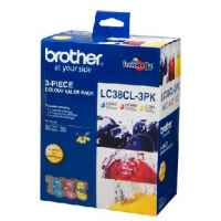 1 x Genuine Brother LC-38 C/M/Y Ink Cartridge Colour Pack LC-38CL3PK