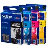 4 Pack Genuine Brother LC-38 Ink Cartridge Set (1BK,1C,1M,1Y)