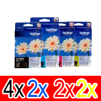 10 Pack Genuine Brother LC-39 Ink Cartridge Set (4BK,2C,2M,2Y)