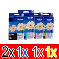 5 Pack Genuine Brother LC-39 Ink Cartridge Set (2BK,1C,1M,1Y)