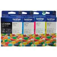 4 Pack Genuine Brother LC-40 Ink Cartridge Set (1BK,1C,1M,1Y)