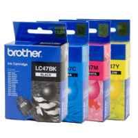 4 Pack Genuine Brother LC-47 Ink Cartridge Set (1BK,1C,1M,1Y)