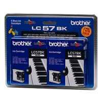 1 x Genuine Brother LC-57 Black Ink Cartridge Twin Pack LC-57BK2PK