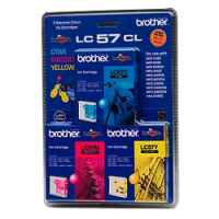 1 x Genuine Brother LC-57 C/M/Y Ink Cartridge Colour Pack LC-57CL3PK