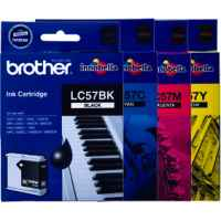 4 Pack Genuine Brother LC-57 Ink Cartridge Set (1BK,1C,1M,1Y)
