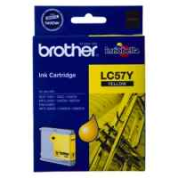 1 x Genuine Brother LC-57 Yellow Ink Cartridge LC-57Y
