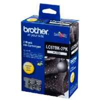 1 x Genuine Brother LC-67 Black Ink Cartridge Twin Pack LC-67BK2PK