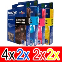 10 Pack Genuine Brother LC-67 Ink Cartridge Set (4BK,2C,2M,2Y)