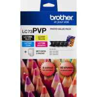 1 x Genuine Brother LC-73 B/C/M/Y Ink Cartridge Photo Value Pack LC-73PVP
