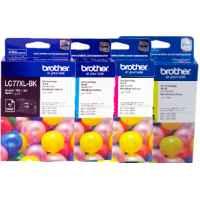 4 Pack Genuine Brother LC-77XL Ink Cartridge Set (1BK,1C,1M,1Y)