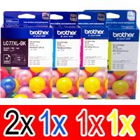 5 Pack Genuine Brother LC-77XL Ink Cartridge Set (2BK,1C,1M,1Y)
