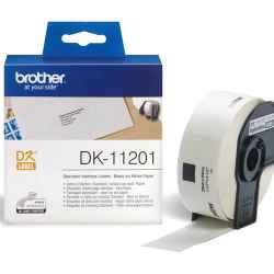 Brother DK11201 DK-11201 - 29mm x 90mm - 400 Labels per Roll - White Paper Label
