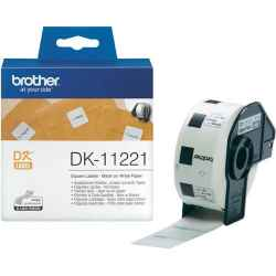 Brother DK11221 DK-11221 - 23mm x 23mm - 1000 Labels per Roll - White Paper Label