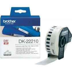 Brother DK22210 DK-22210 - 29mm x 30.48m - Continuous Length - White Paper Tape