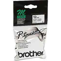 Brother P-Touch MK231 M-K231 12mm Black on White Tape