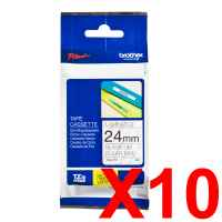 10 x Genuine Brother TZe-151 24mm Black on Clear Laminated Tape 8 metres