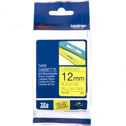 Brother P-Touch TZ631 TZe-631 12mm Black on Yellow Laminated Tape