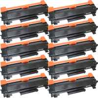 10 x Compatible Brother TN-2450 Toner Cartridge High Yield - With CHIP