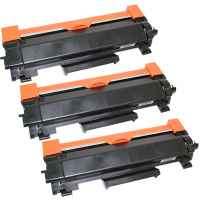 3 x Compatible Brother TN-2450 Toner Cartridge High Yield - NO CHIP Version