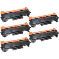 5 x Compatible Brother TN-2450 Toner Cartridge High Yield - With CHIP