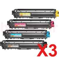 3 Lots of 4 Pack Compatible Brother TN-251 & TN-255 Toner Cartridge Set