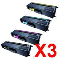 3 Lots of 4 Pack Compatible Brother TN-346 Toner Cartridge Set High Yield