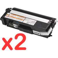 2 x Compatible Brother TN-348BK Black Toner Cartridge High Yield