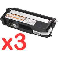 3 x Compatible Brother TN-348BK Black Toner Cartridge High Yield