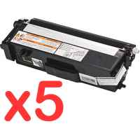 5 x Compatible Brother TN-348BK Black Toner Cartridge High Yield