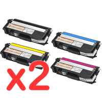 2 Lots of 4 Pack Compatible Brother TN-348 Toner Cartridge Set High Yield