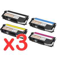 3 Lots of 4 Pack Compatible Brother TN-348 Toner Cartridge Set High Yield