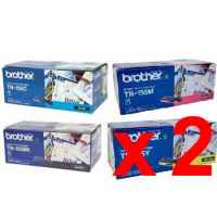 2 Lots of 4 Pack Genuine Brother TN-155 Toner Cartridge Set High Yield