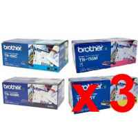 3 Lots of 4 Pack Genuine Brother TN-155 Toner Cartridge Set High Yield