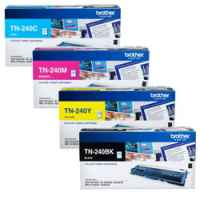 4 Pack Genuine Brother TN-240 Toner Cartridge Set