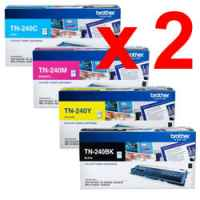 2 Lots of 4 Pack Genuine Brother TN-240 Toner Cartridge Set