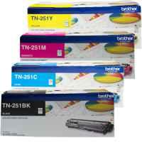 4 Pack Genuine Brother TN-251 Toner Cartridge Set