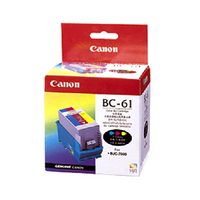 1 x Genuine Canon BC-61 Colour Printhead