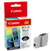 1 x Genuine Canon BCI-21BK Black Ink Cartridge