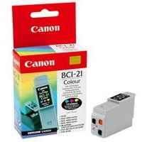 1 x Genuine Canon BCI-21C Colour Ink Cartridge